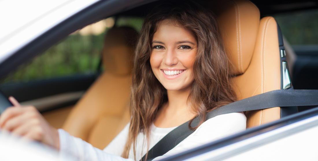 A photo of a teen driver